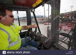 Fork Lift Operator At Port Of New Orleans Stock Photo: 11865072 - Alamy