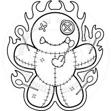Pin Voodoo Clipart Black And White 2