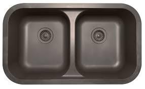 Karran Undermount Bathroom Sinks by Karran Q 350 Quartz Series Undermount Double Equal Bowl Kitchen