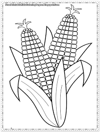 Corn Coloring Pages Printable For On The Cob Page