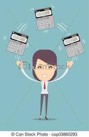 comptable calculator tenue illustration calculatrice
