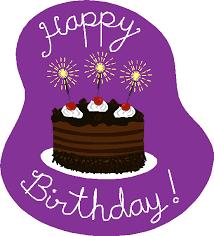 Purple Cake Party Clipart