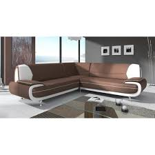 canap d angle pas cher canapé d angle design marron et blanc marita xl achat vente canape