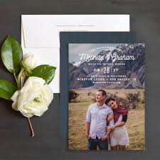 Rustic Photography Wedding Invitation Featuring Your Favorite Photo As A Couple Monogram And Woodgrain Background