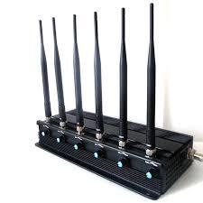 6 Bands Adjustable GSM 3G 4G Mobile Phone Jammer GPS WIFI UHF VHF Signal Blocker
