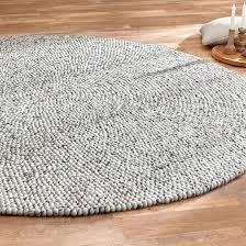 mato filzkugel teppich kibek in grau 140 x 140 cm aus