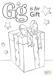 Click The Letter G Is For Gift Coloring Pages To View Printable Version Or Color It Online Compatible With IPad And Android Tablets