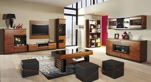 wohnzimmer komplett set c postira 11 teilig teilmassiv farbe walnuss schwarz