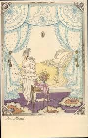 künstler ansichtskarte postkarte köhler mela am abend dame im schlafzimmer