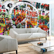 tapeta graffiti sztuka graf graffiti modern dekor