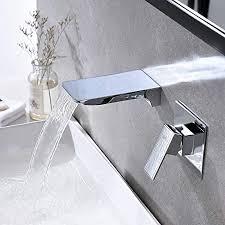 waschtischarmatur wasserfall wandmontage wasserhahn wand