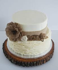 Rustic Bridal Shower Cake Burlap And Buttercream Ruffles