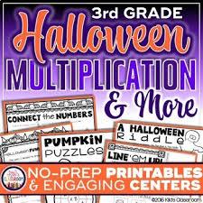 Halloween Multiplication Worksheets 3rd Grade by Halloween Activities 3rd Halloween Math 3rd Grade Halloween