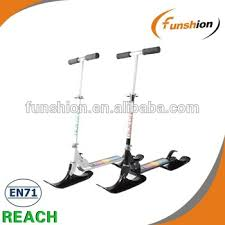 Snow Kick Scooter Parts Ski Scooter Interchangeable Wheels And
