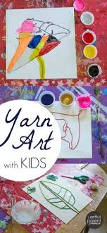 Yarn Art Paintings With Kids Use To Draw Images Fill In Paint