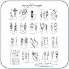 welsh love spoons wood carving patterns by l s irish works