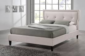 Baxton Studio Platform Bed by Amazon Com Baxton Studio Marquesa Light Beige Fabric Upholstered
