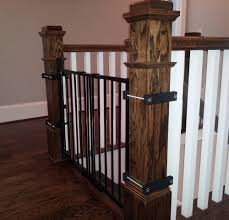 Baby Gate For Stairs With Banister Inspirations : Best Baby Gates ... Baby Gate For Stairs With Banister Ipirations Best Gates How To Install On Stairway Railing Banisters Without Model Staircase Ideas Bottom Of House Exterior And Interior Keep A Diy Chris Loves Julia Baby Gates For Top Of Stairs With Banisters Carkajanscom Top Latest Door Stair Design Wooden Rs Floral The Retractable Gate Regalo 2642 Or Walls Cardinal Special Child Safety Walmartcom Designs