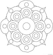 Free Mandalas Coloring Flower Mandala Design 12