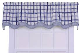 Window Art Tier Curtains And Valances by Ellis Curtain Logan Cotton Rod Pocket Large Scale Plaid Valance