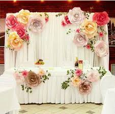 More Color Size DIY Paper Flower Backdrop For Wedding Custom Wall Decoration Party Supplies