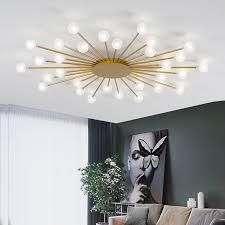 led decke kronleuchter für wohnzimmer schlafzimmer home licht glas schatten moderne led le beleuchtung kronleuchter