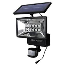 gama sonic outdoor solar security light with motion