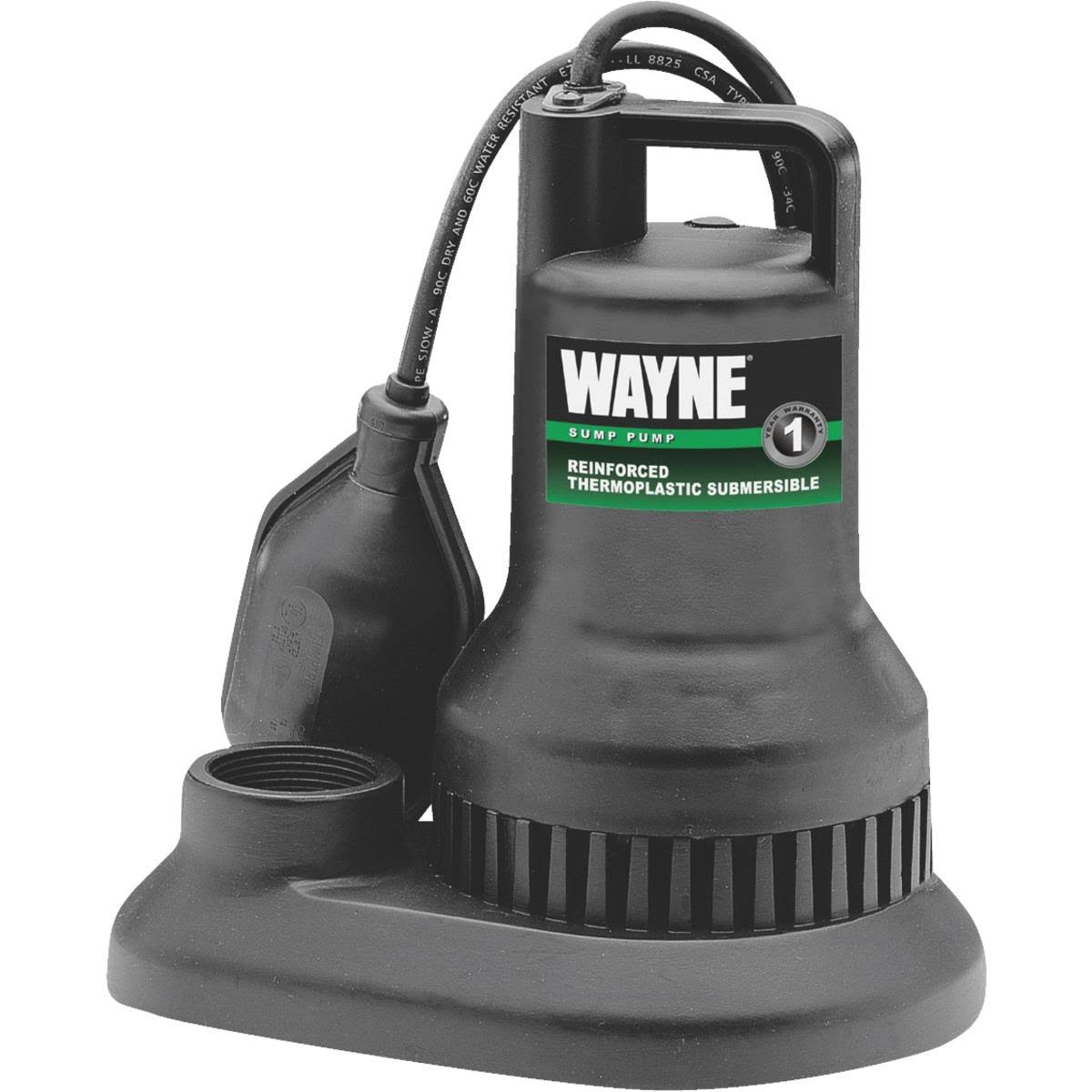 Wayne wst33 Reinforced Thermoplastic Submersible Sump Pump - 1/3HP