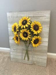 Sunflower Bath Gift Set by Sunflower String Art Bouquet Crafty Pinterest Sunflowers