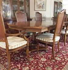 Ethan Allen Dining Room Table Round by Ethan Allen Dining Table And Six Chairs Ebth