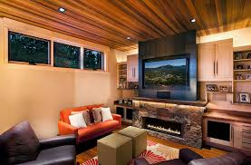 Small Living Room With Modern Rustic Style Design Ryan Group Architects