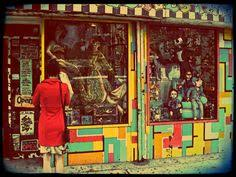 Vintage Toy Store Photograph New York Photography East Village Window Display Retro Toys Urban Wall Decor
