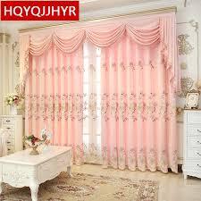 europa luxus rosa bestickte vorhänge für wohnzimmer high end
