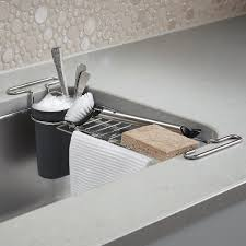 Kohler Sink Grid Stainless Steel by Kohler Chrome Kitchen Sink Utility Rack The Container Store