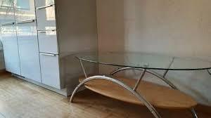 wohnzimmertisch couchtisch fernsehtisch glastisch ovaler tisch
