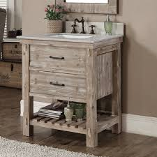 Vanity Rustic Style Matte Ash Grey Limestone Top 30 Inch Bathroom In Vanities