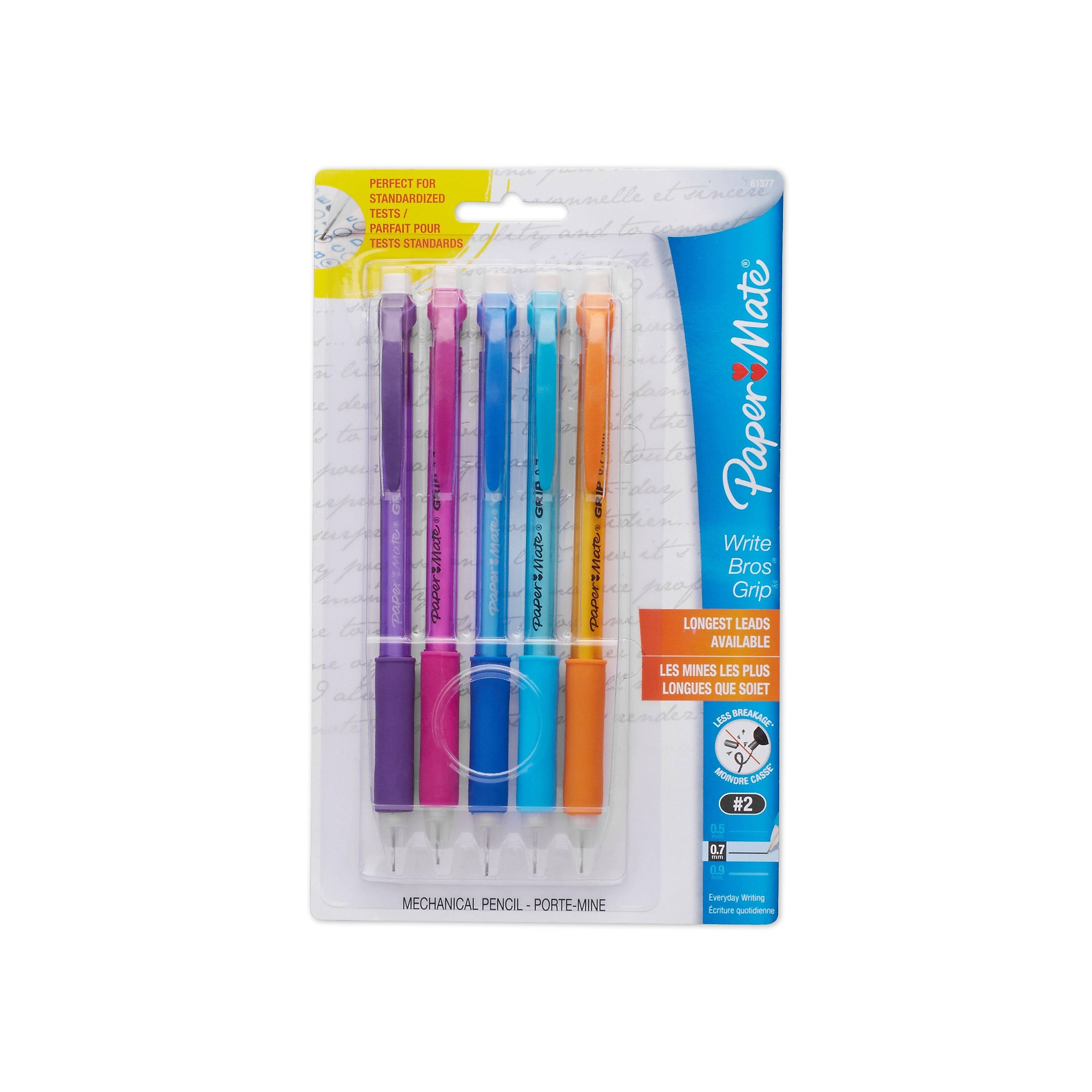 Paper Mate Mechanical Pencil - 0.7mm, 5 Count, Assorted Color