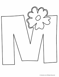 Unusual Idea M Coloring Pages Letter