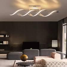 zmh led deckenleuchte deckenle modern 29w 96cm 3000k warmweiß spirale design aus aluminium für schlafzimmer wohnzimmer kaufen otto