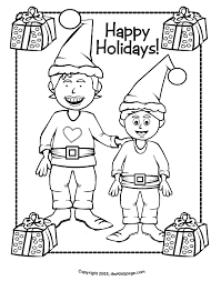 Happy Holidays Free Coloring Pages For Kids