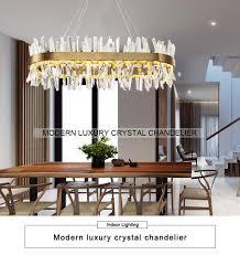 großhandel moderne kristall kronleuchter für wohnzimmer oval gold home hängen beleuchtungszubehör cristal kronleuchter pendelleuchte 110 220 v