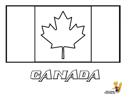Canadian Flag Coloring Page Syougit Regarding Canada Invigorate In Picture