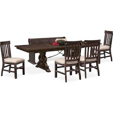 Charthouse Rectangular Dining Table 4 Side Chairs And Bench