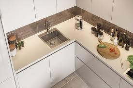 moderne küche modo l form küchenzeile creme hellgrau