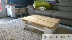 Indoor Painted Coffee Table From Pallets