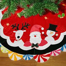 Green Christmas Tree Skirt 36 Xmas Hy Santa Home