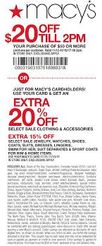 Macys Coupons - Extra 20% Off At Macys, Or Online Via Promo ...