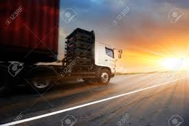 100 Videos Of Big Trucks Generic Speeding On The Highway At Sunset Transport