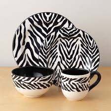 Black And White Dining Room Decorating With Zebra Prints Decorative Patterns