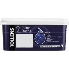 peinture cuisine et bain peinture cuisine sdb tollens satin blanc fumé 1 5l peinture